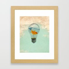 goldfish thinking Framed Art Print