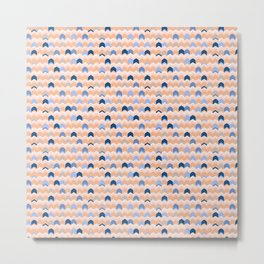 Peach Arrow ZigZag Metal Print