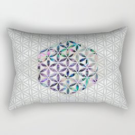 Flower of life Abalone shell on pearl Rectangular Pillow