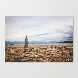 Coastal Cairn- New Zealand Canvas Print