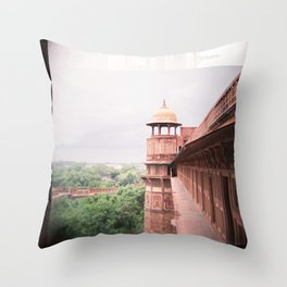 Agra Fort on Diana F+ Throw Pillow