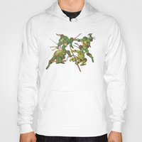 tmnt Hoodies featuring TMNT by Brittany Ketcham