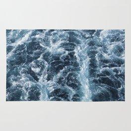 Sea Blue Wake - Pacific Ocean Rug