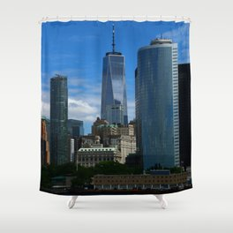 Manhattan View From Hudson River Shower Curtain