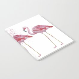 Three Flamingos #society6 Notebook