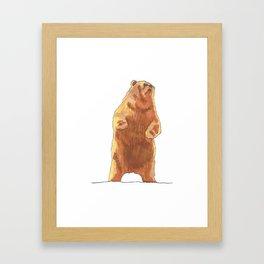Cute Bear  Framed Art Print