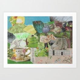 Shepherd and Flock 2 Art Print