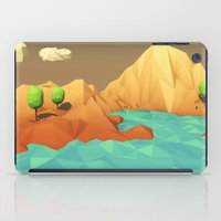 low poly iPad Cases featuring Low Poly Landscape by error23