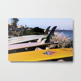 Vintage Longboards by the sea Metal Print