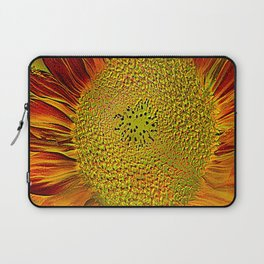 The flower of sun   (This Artwork is a collaboration with the talented artist Agostino Lo coco) Laptop Sleeve