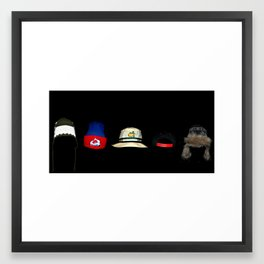 Trippy Hats Framed Art Print