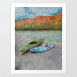 THE 2 OF US - Kayaking Art Print