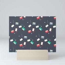 Stationery pattern Mini Art Print