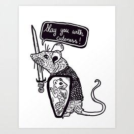 Rat Knight Art Print