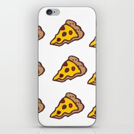 Pizza Pattern with Transparent Background iPhone Skin