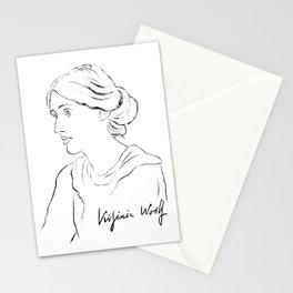 Virginia Woolf Portrait with Signature Stationery Cards