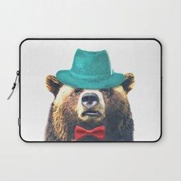 Funny Bear Illustration Laptop Sleeve