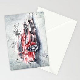 Red Beauty - Benz Stationery Cards