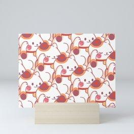 Maneki-Neko Pattern Mini Art Print