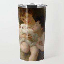 """William-Adolphe Bouguereau """"Les Enfants à L'Agneau (Children With the Lamb)"""" Travel Mug"""