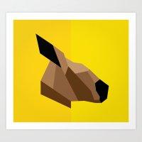 kangaroo Art Prints featuring Kangaroo by BMaw