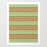 AZTEC Pattern 1-2 Art Print