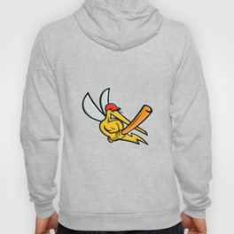 Mosquito Baseball Mascot Hoody