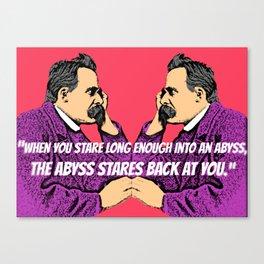 Nietzsche's Abyss Canvas Print