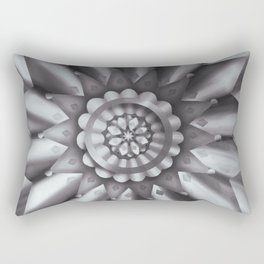 Black and White Minimalist Mandala Design Rectangular Pillow