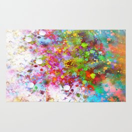 Color Splash abstract art by Ann Powell Rug