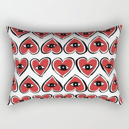 Red eye heart Rectangular Pillow