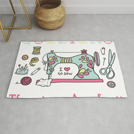 Quilting There Is No App Sewing Handwork Embroider Gift Rug