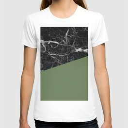 Black Marble and Kale Color T-shirt