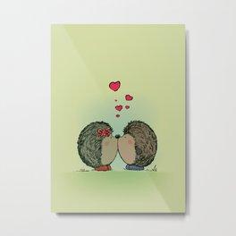 Hedgehogs in love Metal Print
