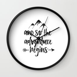 And So The Adventure Begins Sign,Adventure Awaits,Adventure Nursery,Kids Room Decor,Quote Posters,Pr Wall Clock