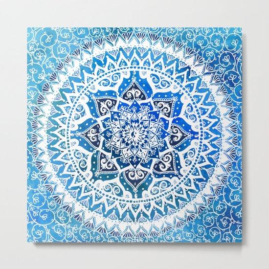 Watercolour Yin Yang Mandala Metal Print