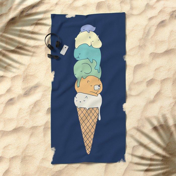 Melting 2 Beach Towel