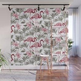 "Pink flamingo design ""Frida"" Wall Mural"