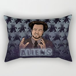 Aliens Guy (Giorgio Tsoukalos) Color Rectangular Pillow