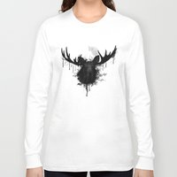 moose Long Sleeve T-shirts featuring Moose by Nicklas Gustafsson