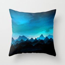 Night Storm In The Mountains Throw Pillow