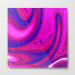 Abstract Fluid 12 Metal Print