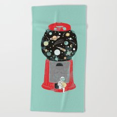 My childhood universe Beach Towel