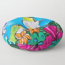 Tropical Tweets Floor Pillow
