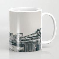 seoul Mugs featuring Seoul Cityscape by Jennifer Stinson