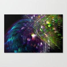 Black Peacocks Canvas Print