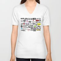 edm V-neck T-shirts featuring Edm favourites by Antekswerve