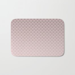 Pink smoky geometric pattern Bath Mat