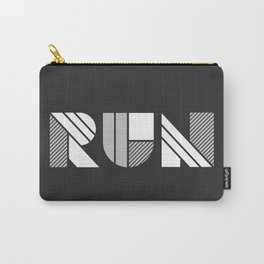 Run - Geometric Shapes ( White & Silver) Carry-All Pouch