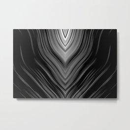 stripes wave pattern 3 bwbi Metal Print
